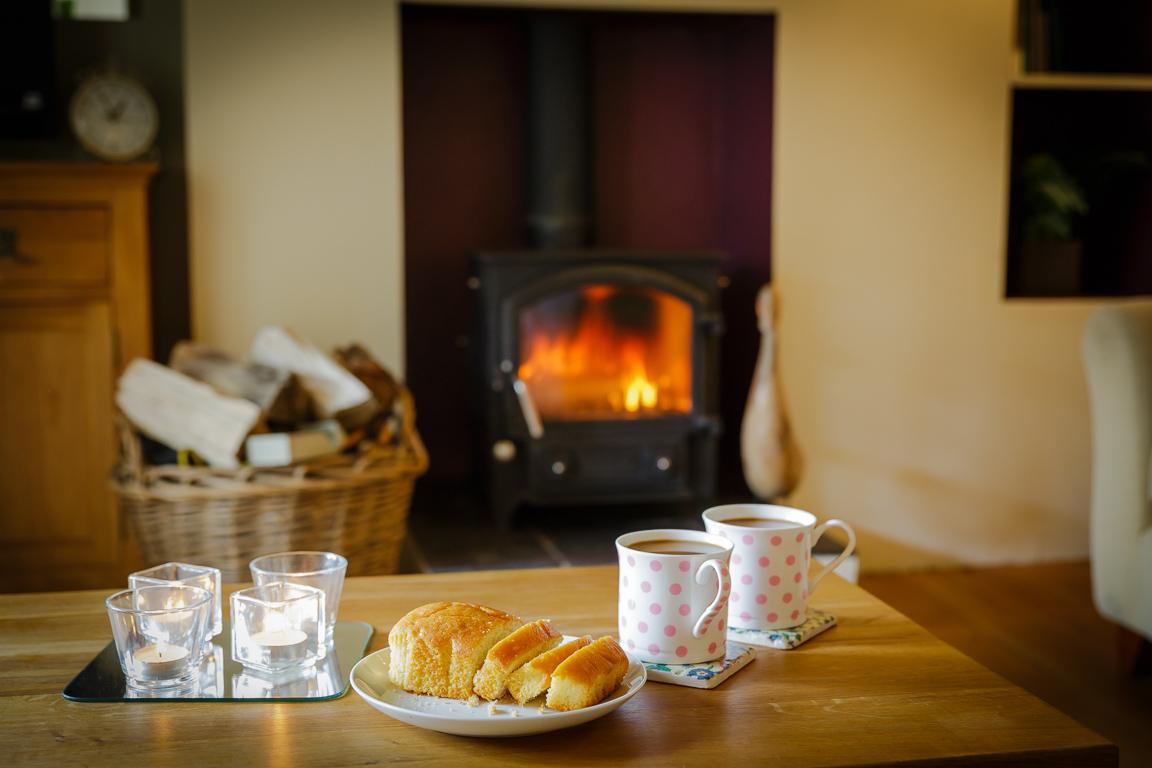 luxury cottage with wood burning stove