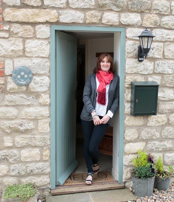 Karen by front door