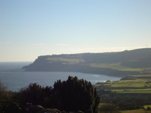 View over Robin Hood' Bay, North Yorkshire