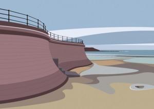 Filey Breakwater by Ian Mitchell