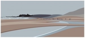 Sandsend Beach towards Whitby