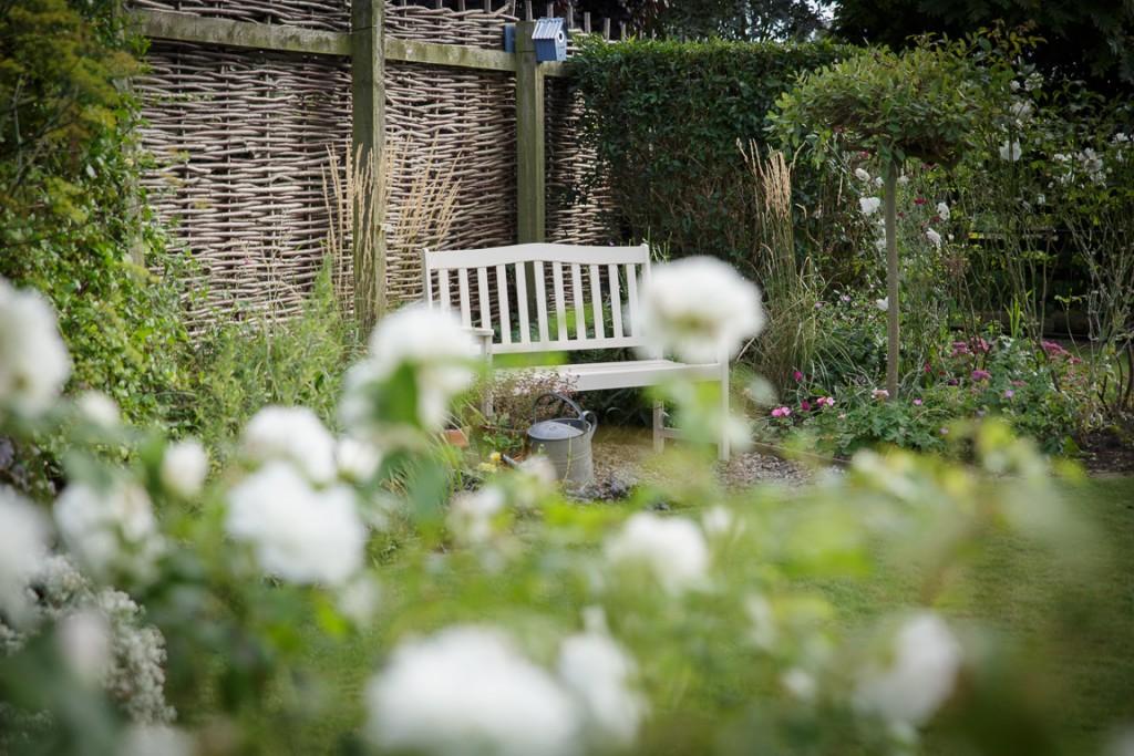 Uwnind in the cottage garden