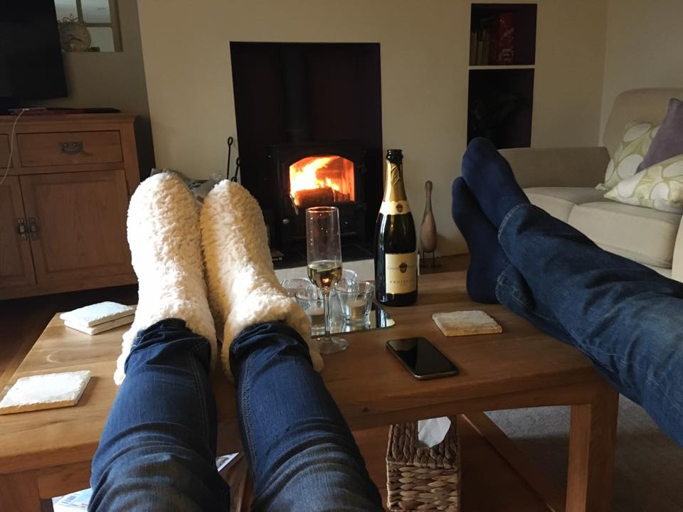 Happy holiday cottage guests