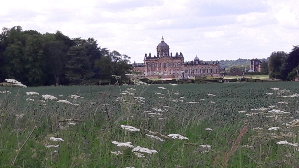 view from walk near Castle Howard