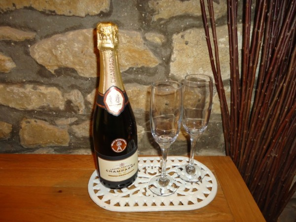 Treat yourself to some champagne at Spring Cottage