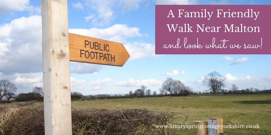 Family Friendly walk near Malton