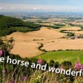 White horse walk on the north york moors