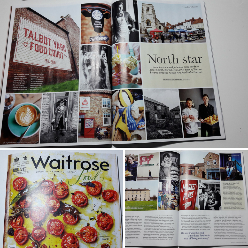 Fab article in May's Waitrose magazine about Malton – Yorkshire's food capital